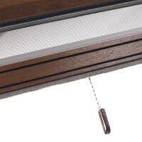 Insektenschutzrollo in Holz-Optik