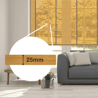 Holz-Jalousie 25mm bestellen