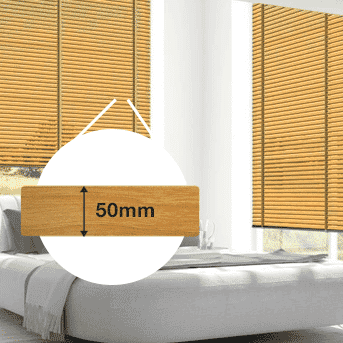 Holz-Jalousie 50mm bestellen