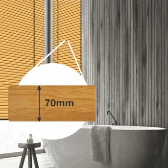 Holz-Jalousie 70mm bestellen