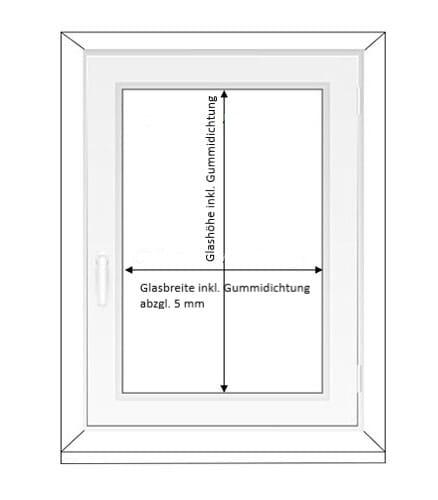 Messen bei Montage im Fensterfalz