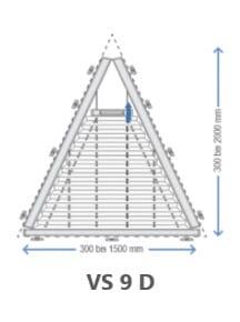 Plisseetyp VS9 D