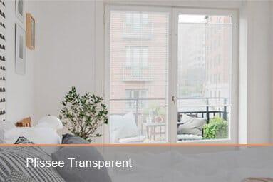 Plissee Transparent
