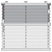 Plissee F3 in schematischer Darstellung