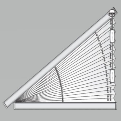 Dreieckige Plissees