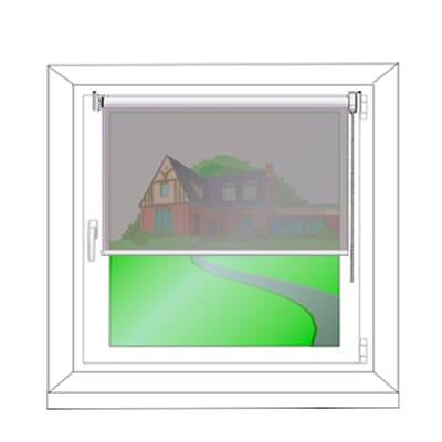 Montage am Fensterflügel mit Klemmträgern - Montagezeichnung