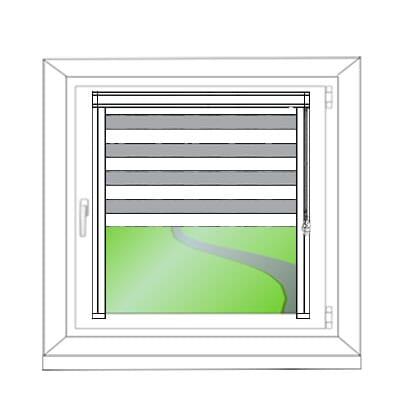 Gklebte Montage am Fensterflügel - Montagezeichnung