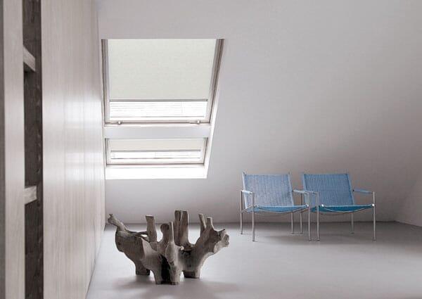 Dachfenster-rollo für geteilte Fenster
