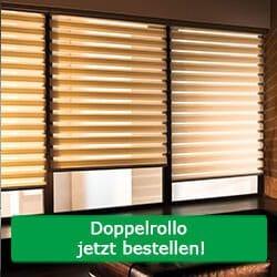 Doppelrollo Fenster-Sichtschutz